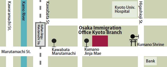 Immigration bureau map